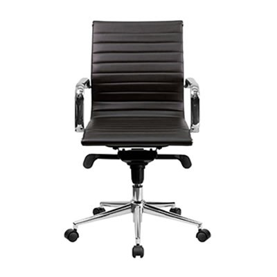 Sona Mid-Back Brown Ribbed Task Chair