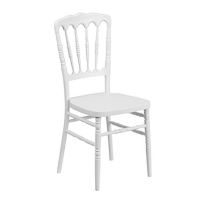 White Resin Stacking Napoleon Chair