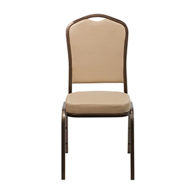 Crown-Back Tan Vinyl Chair