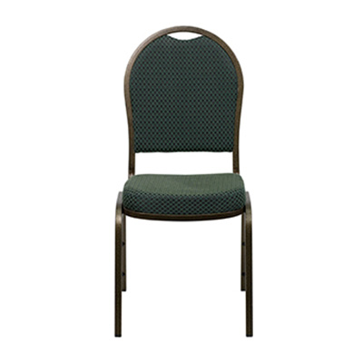 Dome-Back Green Fabric Chair