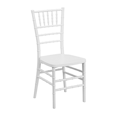 White Resin Stacking Chair