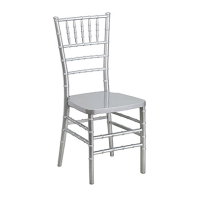 Silver Resin Stacking Chiavari Chair