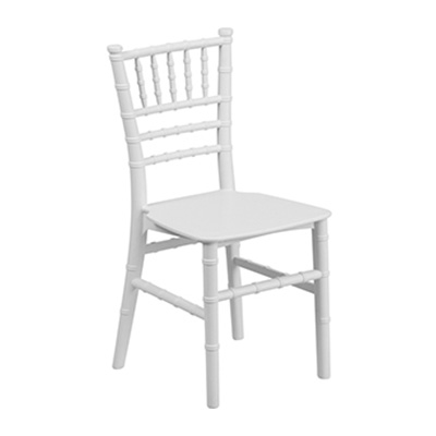 Kids White Resin Chiavari Chair