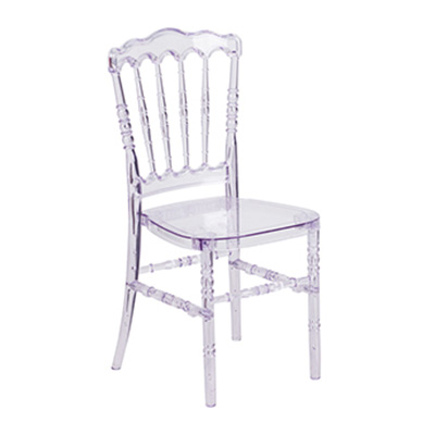 Crystal Ice Stacking Napoleon Chair