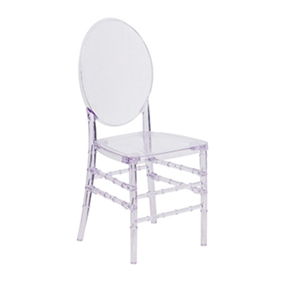 Crystal Ice Stacking Florence Chair