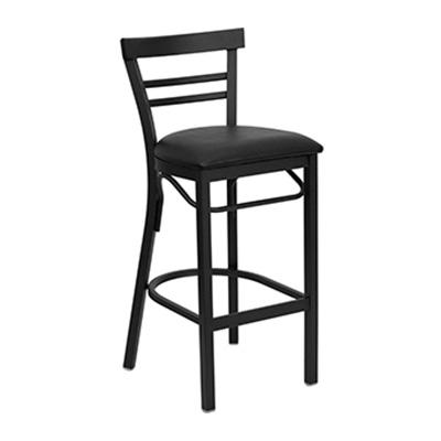 Black Ladder Back Metal Barstool