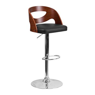 Walnut Bentwood Adjustible Barstool