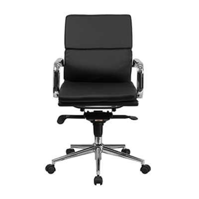 Soho Mid-Back Black Chair