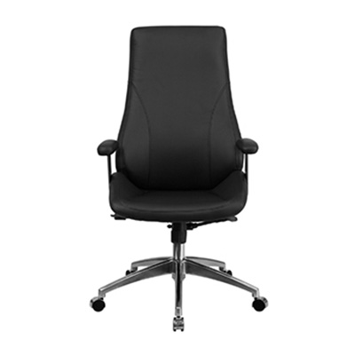 Vibe High-Back Black Leather Task Chair