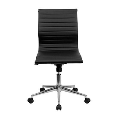 Sona Mid-Back Armless Ribbed Task Chair