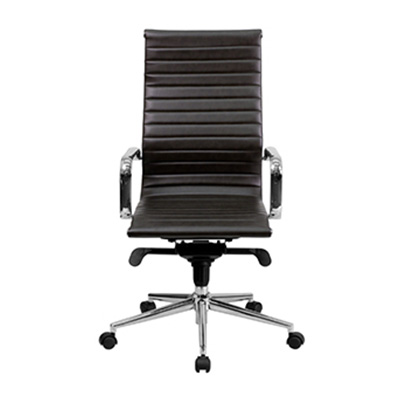 Sona High-Back Brown Ribbed Task Chair