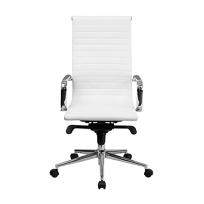 Sona High-Back White Ribbed Task Chair