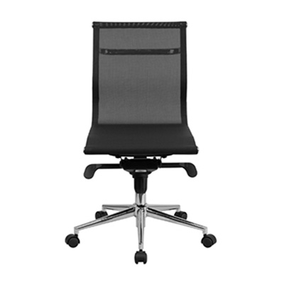 Lunar Mid-Back Armless Mesh Task Chair