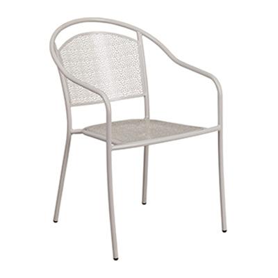 Light Gray Steel Patio Arm Chair