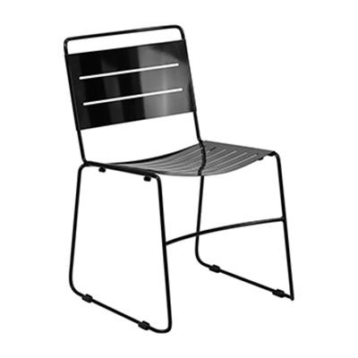 Black Metal Stack Chair