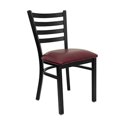 Black Ladder Back Metal Dining Chair