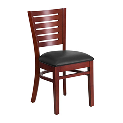 Slat Back Mahogany Wooden Dining Chair