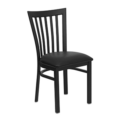Black School House Back Metal Dining Chair